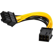 Best quality 6-pin to 8-pin PCI Express Power Converter Cable for Video Card PCIE 500pcs/lot