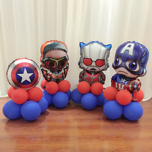 DIY SET Kids Birthday Party Decoration Ideas Avengers Mylar balloons Super Hero Captain America Superman Falcon Ant Spider Man