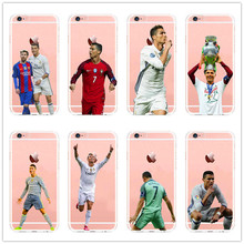 Real Madrid Cristiano Ronaldo & Lionel Messi Phone Cases For iPhone 5 5C SE 6 6plus 7 Hard plastic Cover(China)