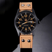 1PC SOKI Casual Watch Quartz men watches 2017 Fashion Belt Military Campaign Calendar High Quality Khaki Fast Shipping VICO
