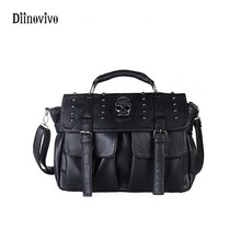 DIINOVIVO Large Capacity Rock Style Women Casual Totes Fashion Ladie's Pouch Designer Handbag PU Leather Shoulder Bag WHDV0089