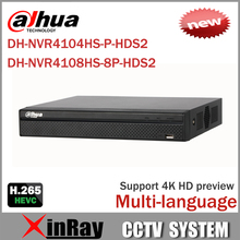 Cost Effective Dahua 6MP Network Video Recoder NVR4108HS-8P-HDS2 NVR4104HS-P-HDS2 4/8CH NVR Support ONVIF CGI Conformant(China)