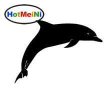HotMeiNi Dolphin Leaping Out of The Sea Styling Car Window Sticker for Truck Bumper Kayak Art Wall Die Cut Vinyl Decal 8 Colors