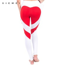 Buy red heart patchwork sweat pants women jogger gyms sporting leggings female active high waist fitness workout calzas femme for $8.00 in AliExpress store