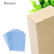 Behogar 100Pcs 13.39 x 9.45inches PVC Shrink Wrap Film Flat Bags Heat Seal for Soaps Bath Bombs Handmade DIY Crafts Gift Packing(China)