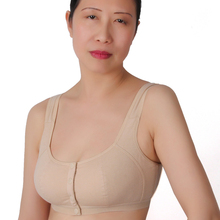 XIUSHIREN Wireless Seniority COTTON Bra Middle Age Plus Size Vest Bra Underwear Front Button Lingerie Women Push Up Cup B C D A2