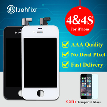 3 PCS AAA Quality For iPhone 4 4S LCD Screen Display Touch Screen Digitizer Assembly for iPhone 4S LCD Black White(China)