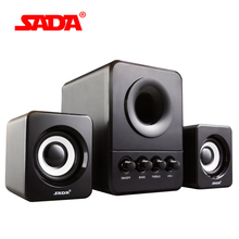 SADA D-203 Combination Speaker is Suitable for Desktop Computer Mobile Phone Notebook USB2.1 Bass Cannon for Free Shipping(China)