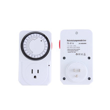 US Plug 24 Hour Programmable Mechanical Electrical Plug Program Timer Power Switch Energy Saver Top sale(China)
