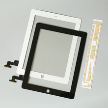 10Pcs/lot Touch Screen Glass Digitizer Replacement + Home Button+adhesive+camera+hold for iPad 2 A1395 A1396 A1397 Assembly