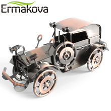 "ERMAKOVA 20cm(7.8"")Metal Old Car Figurine Gran Torino Retro Vehicle Statue Runabout Handmade Car Model Gift Home Office Decor"