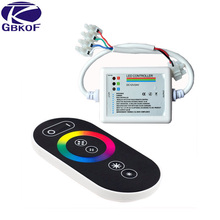 Good RGB Touch Panel Controller RF Wireless Remote Control 18A DC 12-24V RGB Dimmer RGB Controller for 3528 5050 RGB LED Strip(China)