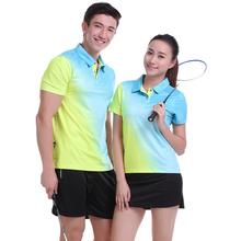 New Tennis sets Women / Men , Tennis jerserys , Badminton shirt wear sets , table tennis POLO T Shirts Quick Dry 1001(China)