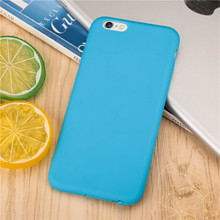Dust plug Ultra thin rubber Phone Cases For iPhone 6 6S 6Plus 6sPlus 4.7'' 5.5'' Soft TPU silicon back cover Cute Candy color