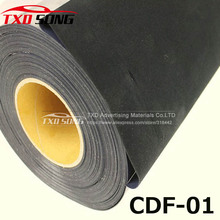 50CMX100CM Flocking Heat Transfer Vinyl for Garment top quality,Black flock transfer pu film with free shipping(China)