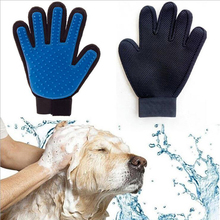 Dog Glove Deshedding Gentle Efficient Pet Grooming Dogs Bath Pet Supplies Blue Cat Brush Glove