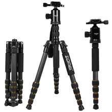ZOMEI Z699C Carbon Fiber Portable Tripod with Ball Head Compact Travel for Canon Sony Nikon Samsung Panasonic Olympus Kodak(China)