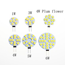 5pcs DC 12V G4 LED Lamp Bulb 1W 3W 4W 5W 6W 5050 SMD Light Corn Bulbs Droplight Chandelier smd 5050 Spot light Cool Warm White