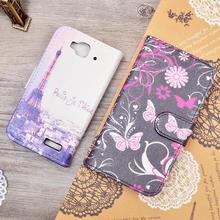 For Alcatel One Touch Idol Mini 6012 6012A 6012X 6012W Cute Printing Carton Flip PU Leather Case Card Slot And Stand Function
