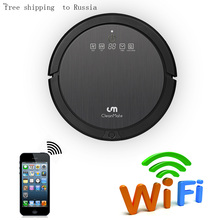 new ! free shipping to Russia APP WIFI control  robotic vacuum cleaner AUTO clean kinds of floors and carpet dry/wet mop