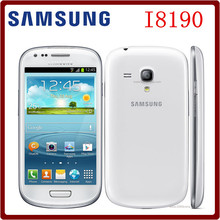 I8190 Original Unlocked Samsung Galaxy SIII mini I8190 5MP 1GB RAM+16GB ROM 4.0`` Android OS GPS WIFI Smartphone Free Shipping