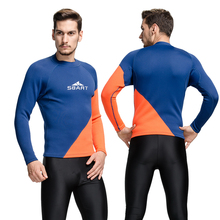 Sbart 2mm neoprene  wetsuit tops man rashguard swim shirts men long swim shirt thermal swim top