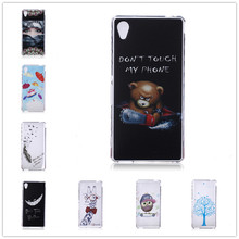 25 pattern panda Camouflage TPU Silicone Soft Transparent Case for Sony M2 Dual D2305 D2303 Back Skin Cover Cell Phone Protect