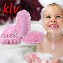 Buy Baby Infant Bath Silicone Massage Brush Shower Shampoo Scalp Care Comb Grooming for $5.33 in AliExpress store
