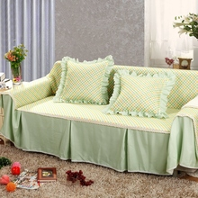 SunnyRain Pastoral Green Floral Sectional Sofa Cover For L Shaped Sofa Slipcover Couch Cover Furniture Protector