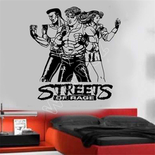 WXDUUZ Vinyl living room space streets of rage classic nintendo vinyl wall art sticker Wall Sticker Home Decor Wall Decals B517(China)