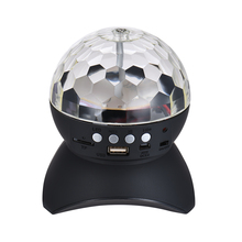 Mini Crystal Ball Wireless Bluetooth Speaker Music Player with Special RGB Color LED Light Support TF Card for iPhone Smartphone(China)