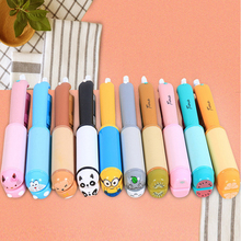 At Fashion Mini hair straightener Curling irons Small Hair Styling tools Cartoon Girl flat hair irons with PVC box