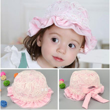 2016 new spring pearl lace princess hats elastic baby hat visor sunhat baby girl newborn caps flower Hat MZ3349 (5pieces/lot)