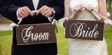 20pcs(10 pair) Vintage Wood Bride and Groom Couple Wedding Signs Wooden Wedding Party Photo Booth Props 2016 New Design