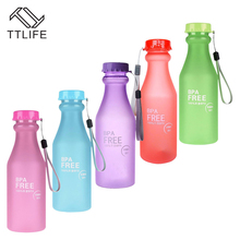 2017 New Style High Quality Portable 550ml Unbreakable Plastic Sports Water Bottle Portable Leak-proof BPA Free Water Bottles