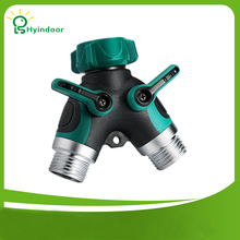 USA Standard 3/4'' 2 Way Y Shunt Hose Garden Watering Splitter Connector Garden Hoses Faucet Pipes Fittings Adapter(China)