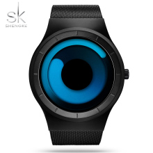 SK Original Brands Wristwatches Men's Sports Watch Steel Mesh Strap Waterproof Male Chic Quartz Clock Limited Edition Timepieces(China)