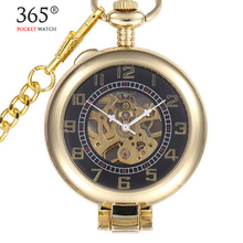 20pcs/lot DHL Classis Lead Golden Style Men's Magnifying Glass Mechanical Pocket Watch With Chain Gifts XMAS