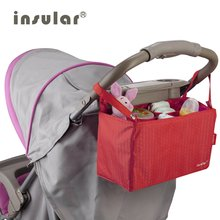 INSULAR Diaper Bag Fashion Baby Stroller Waterproof Nylon Colorful Mummy Bag Mother Travel Baby Nappy Stroller Bag Portable