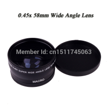 Buy Hot Sale 0.45X 58mm Wide Angle camera Lens Canon 550D 400D 450D 500D 600D 1000D for $15.90 in AliExpress store