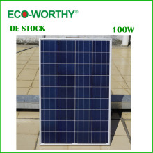 DE Stock No Tax 100W 18V Polycrystalline Solar Panel for 12v Battery Off Grid System Solar for Home System