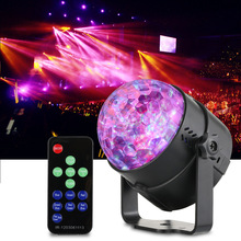 Mini RGB Water Wave Ripple  LED Stage Effect Light Lamp 7 Colors Sound Activation Auto IR Remote Controller for Home Entertain