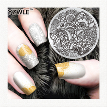 YZWLE factory price retail 2016 designs template professional stamping stainless steel image plates nail art decorations(China)