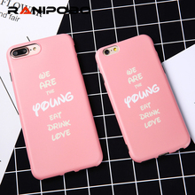 Fashion Popular Word Pink Style For iphone 7 6 6s 6plus 7plus Case Full Body Protector Soft TPU Silicon Shell Back Skin
