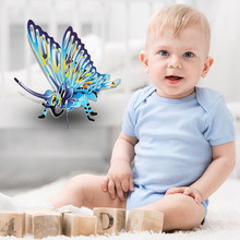 MINOCOOL DIY Kids 3D Paper Puzzles Insects Recognition Colorful Butterfly Hands-on Toys Assembling Kits For Educational Toy(China)