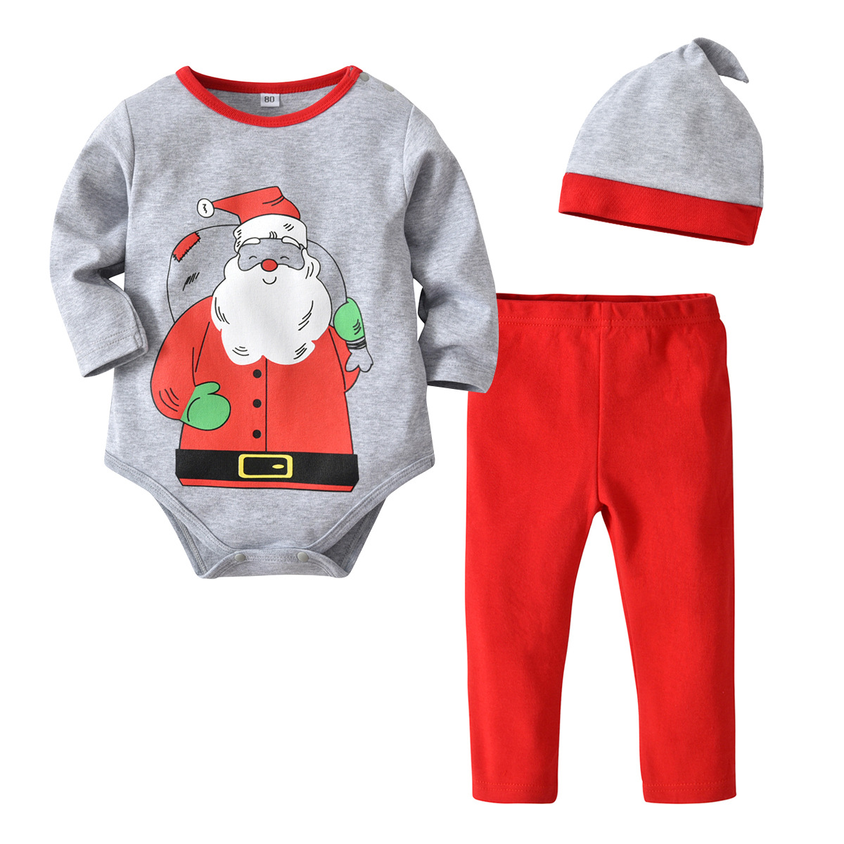 Christmas Outfit Newborn Infant Baby Girl Boy Striped Romper Jumpsuit Colorful