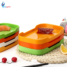 Korean Style Rectangular Barbecue Dish Food Storage Trays Plate Dish Buffet Restaurant Hot Pot Barbecue Shop Tableware