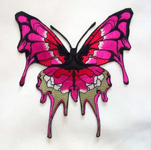 1 Pc Pink/Blue Patch Embroidery Patch Appliques Embroidered Patch For Clothing Butterfly Patches ZC02