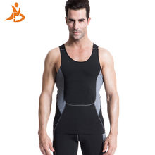 YD 2017 Logo Custom Quick Dry Running Vest Training Sleeveless Workout Tank Top Fitness Tights Men Sport Suit Gym Man's T-Shirt(China (Mainland))