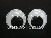 wholesale 18mm 2000pcs Googly Eye, Wiggle Doll Toy Eyes,Movable Eye Plastic Eyes, Black(China)